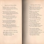 """A page from Julia H. May's <em>Songs from the Woods of Maine</em> showing the poem """"The Happy Hills of Strong."""""""