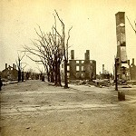 Stereoscopic view of Portland after the fire of 1866, taken by John P. Soule