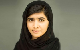 A photograph of 17-year-old Malala Yousafzi.