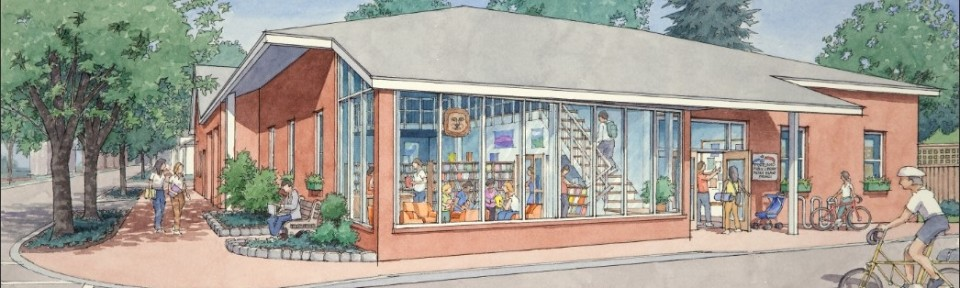 Peaks Island renovation -- artist's rendering