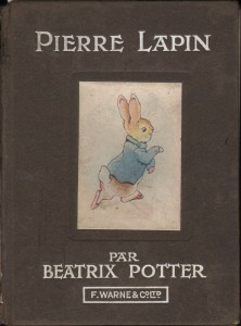 "Beatrice Potter's ""Peter Rabbit"" French edition."