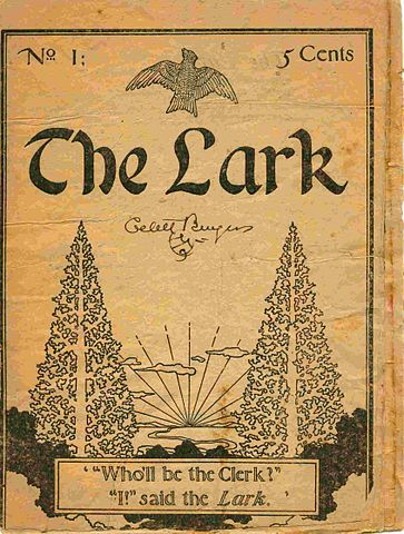 "The May 1895 issue of The Lark in which ""The Purple Cow"" first appeared."