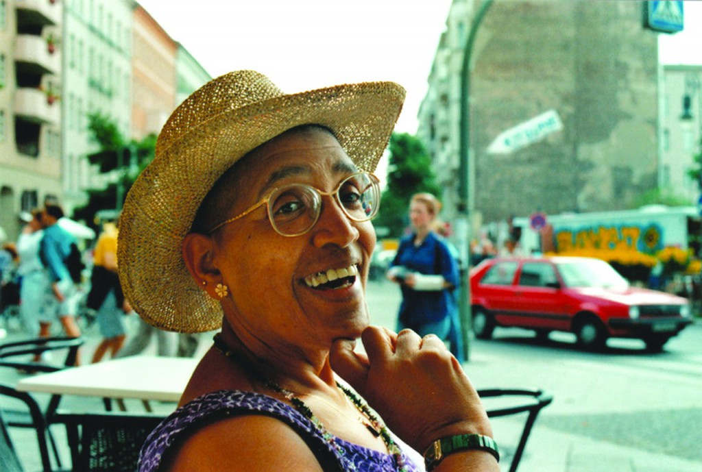 "Audre Lorde in a film still from director Dagmar Schultz's ""The Berlin Years: 1984-1992."""