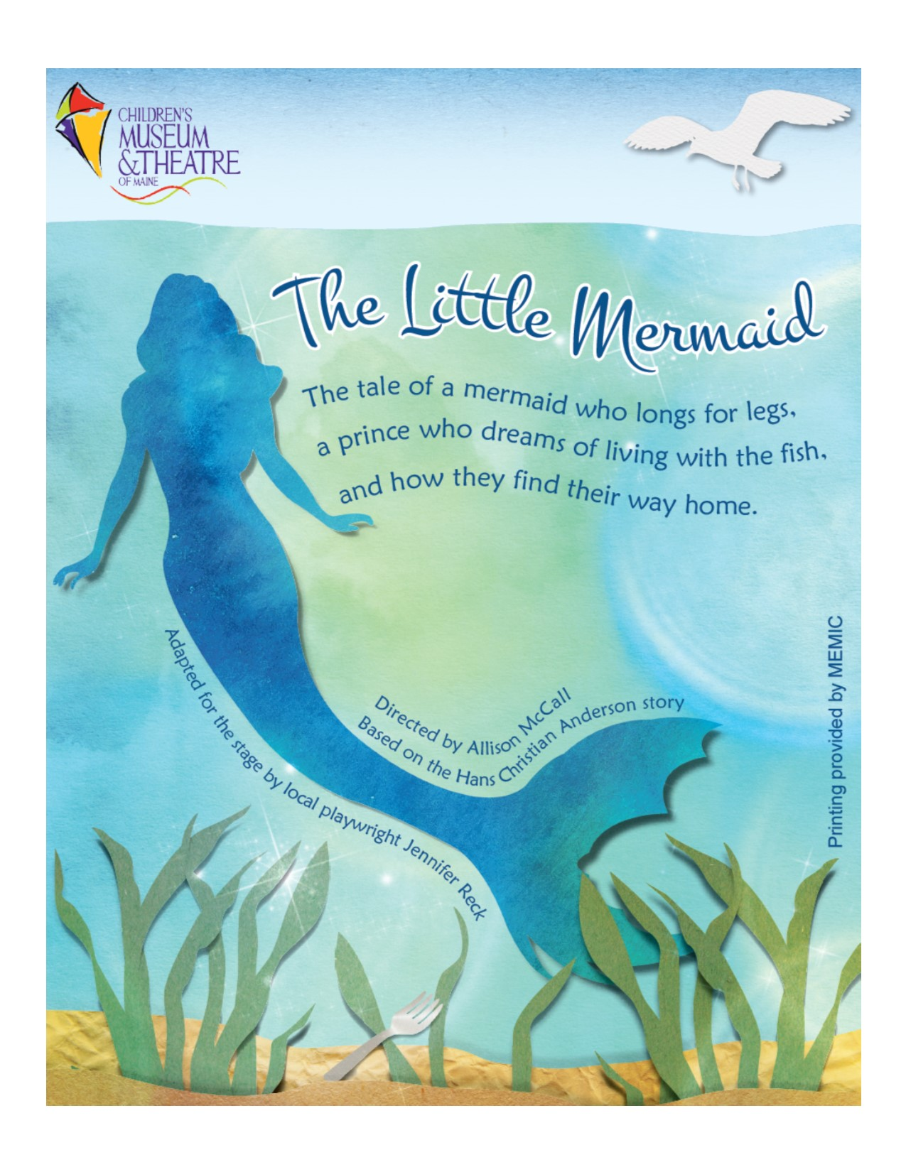 Children's Museum & Theatre Of Maine Will Be Presenting Scenes From Their  Upcoming Production Of The Little Mermaid At Portland Public Library