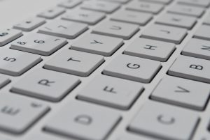 Close-up of white keyboard
