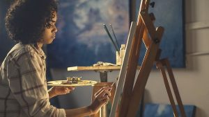 painter with easel
