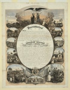 image scan of the Emancipation Proclamation