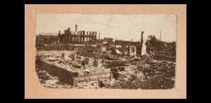 photo of the devastation from the Tulsa Race Massacre